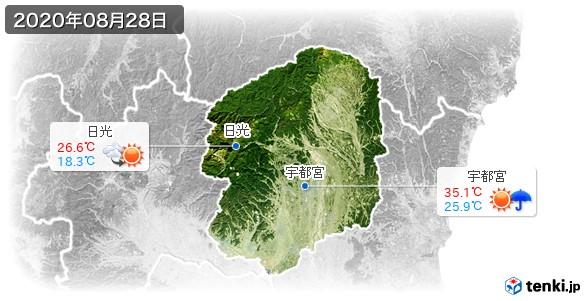 栃木県(2020年08月28日の天気