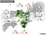 2020年08月30日の近畿地方の実況天気