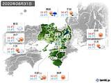 2020年08月31日の近畿地方の実況天気