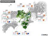2020年09月01日の近畿地方の実況天気