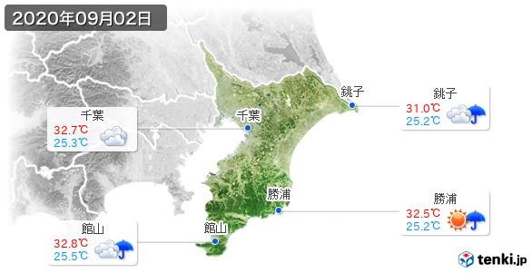 千葉県(2020年09月02日の天気