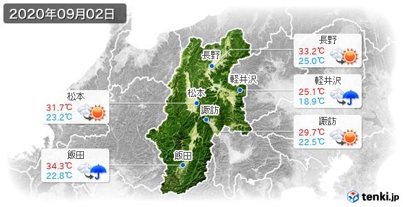 長野県(2020年09月02日の天気