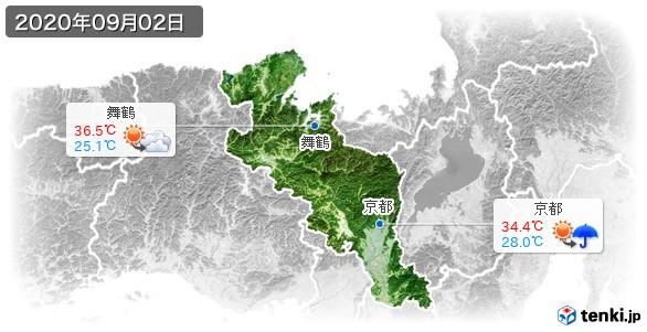 京都府(2020年09月02日の天気