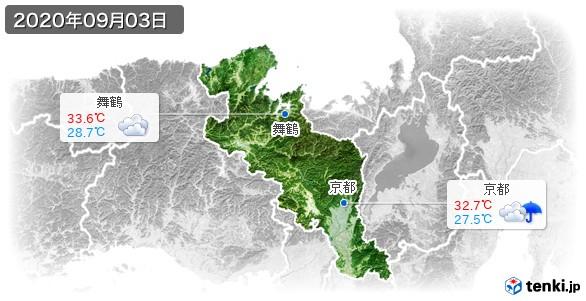 京都府(2020年09月03日の天気