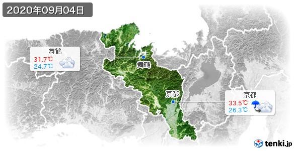 京都府(2020年09月04日の天気