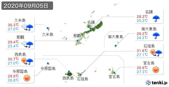沖縄県(2020年09月05日の天気