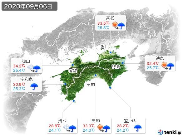 四国地方(2020年09月06日の天気