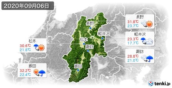 長野県(2020年09月06日の天気