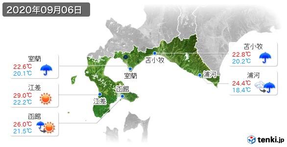 道南(2020年09月06日の天気