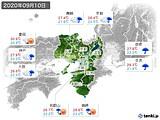 2020年09月10日の近畿地方の実況天気