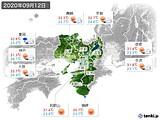 2020年09月12日の近畿地方の実況天気