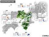 2020年09月19日の近畿地方の実況天気