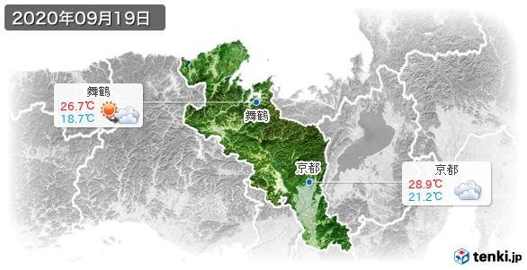 京都府(2020年09月19日の天気