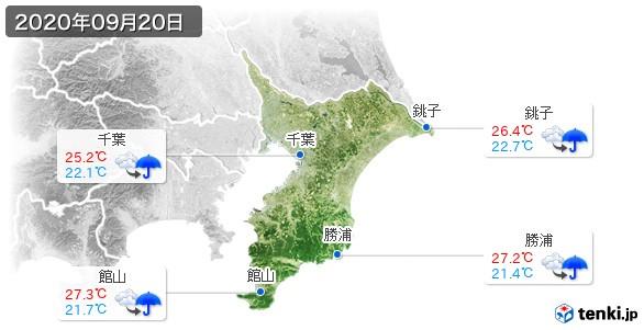千葉県(2020年09月20日の天気