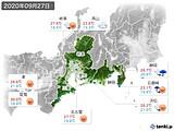2020年09月27日の東海地方の実況天気