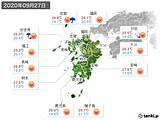 2020年09月27日の九州地方の実況天気