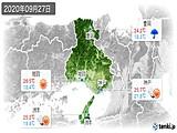2020年09月27日の兵庫県の実況天気
