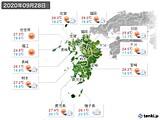 2020年09月28日の九州地方の実況天気