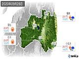 2020年09月28日の福島県の実況天気