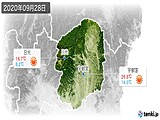 2020年09月28日の栃木県の実況天気