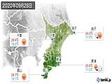 2020年09月28日の千葉県の実況天気
