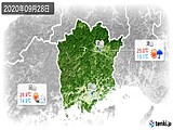 2020年09月28日の岡山県の実況天気