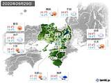2020年09月29日の近畿地方の実況天気