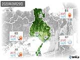 2020年09月29日の兵庫県の実況天気