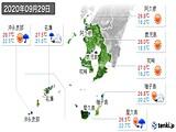 2020年09月29日の鹿児島県の実況天気