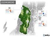 2020年09月29日の山形県の実況天気