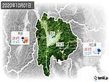 2020年10月01日の山梨県の実況天気