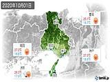 2020年10月01日の兵庫県の実況天気