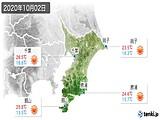2020年10月02日の千葉県の実況天気