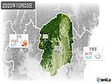 2020年10月03日の栃木県の実況天気