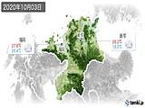 2020年10月03日の福岡県の実況天気