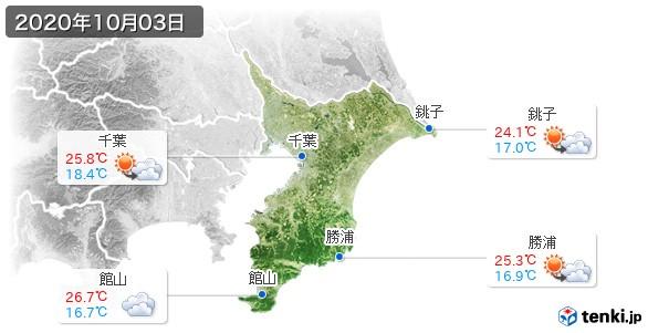 千葉県(2020年10月03日の天気