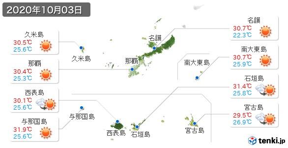 沖縄県(2020年10月03日の天気