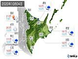 2020年10月04日の道東の実況天気