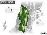 2020年10月04日の山形県の実況天気