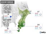 2020年10月05日の千葉県の実況天気