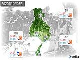 2020年10月05日の兵庫県の実況天気