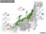 2020年10月06日の北陸地方の実況天気