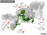 2020年10月06日の東海地方の実況天気
