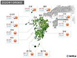 2020年10月06日の九州地方の実況天気