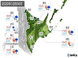 2020年10月06日の道東の実況天気
