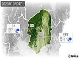 2020年10月07日の栃木県の実況天気