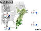 2020年10月07日の千葉県の実況天気