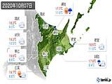 2020年10月07日の道東の実況天気