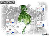 2020年10月07日の兵庫県の実況天気