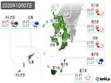 2020年10月07日の鹿児島県の実況天気
